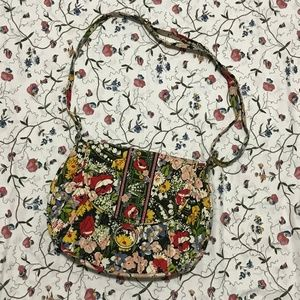 vera bradley poppy fields large crossbody